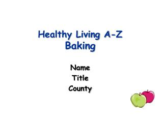 Healthy Living A-Z Baking