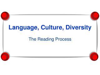 Language, Culture, Diversity