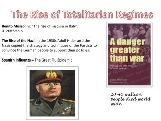 The Rise of Totalitarian Regimes
