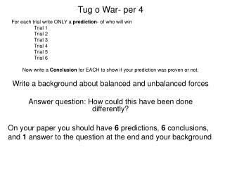 Tug o War- per 4
