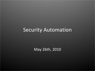 Security Automation