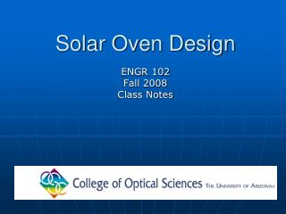 Solar Oven Design