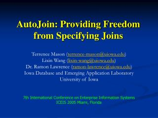 AutoJoin: Providing Freedom from Specifying Joins