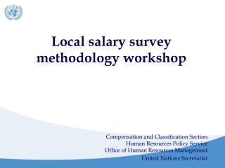 Local salary survey methodology workshop