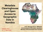 Metadata Clearinghouse and Open Access to Geographic Data in Namibia