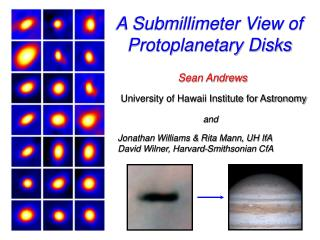 A Submillimeter View of Protoplanetary Disks