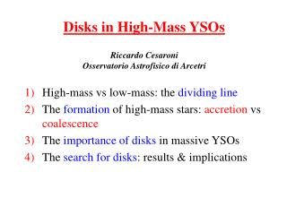 Disks in High-Mass YSOs