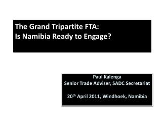 The Grand Tripartite FTA:  Is Namibia Ready to Engage