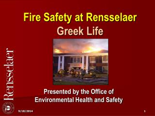 Fire Safety at Rensselaer Greek Life