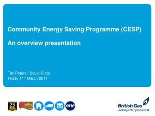 Community Energy Saving Programme (CESP)  An overview presentation