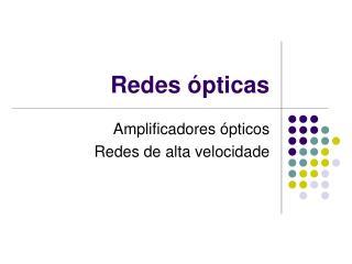 Redes ópticas