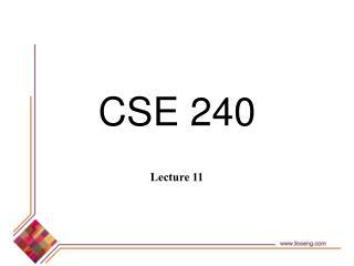 CSE 240