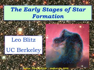 The Early Stages of Star Formation