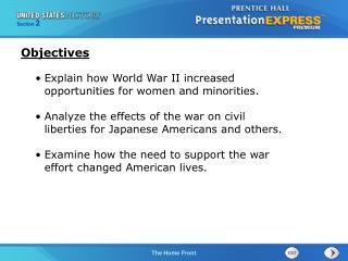 Explain how World War II increased opportunities for women and minorities.