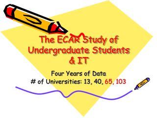 The ECAR Study of Undergraduate Students & IT