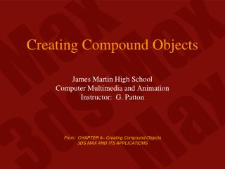 Creating Compound Objects