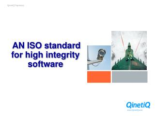 AN ISO standard for high integrity software