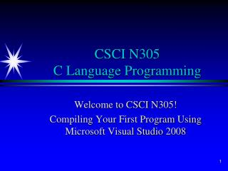 CSCI N305 C Language Programming