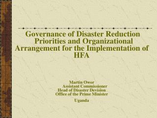 Regional  Governance of DRR