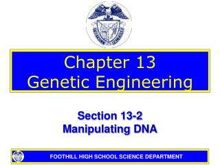 Chapter 13 Genetic Engineering