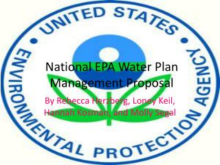 National EPA Water Plan Management Proposal