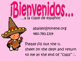 Spanish 2 Mid-term Review