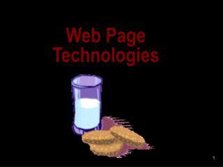 Web Page Technologies
