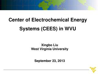 Center of Electrochemical Energy Systems (CEES) in WVU