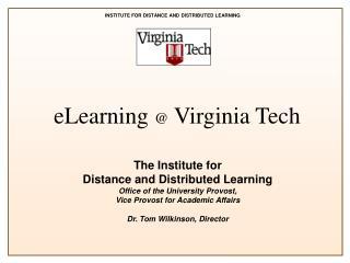 eLearning  @  Virginia Tech