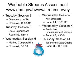 Wadeable Streams Assessment epa/owow/streamsurvey