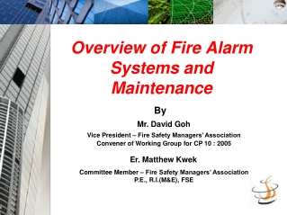 FIRE PROTECTION SYSTEMS   TESTING, INSPECTION and MAINTENANCE