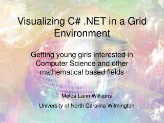 Visualizing C# .NET in a Grid Environment