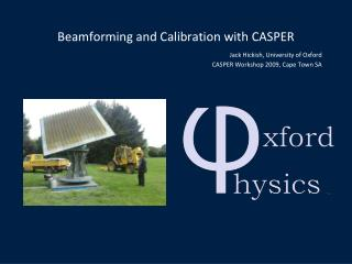 Beamforming and Calibration with CASPER