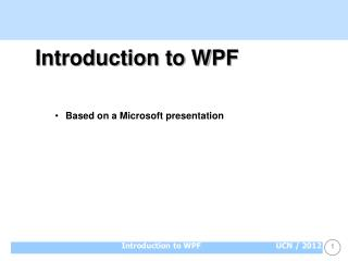 Introduction to WPF