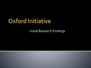 Oxford Initiative