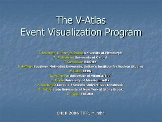 The V-Atlas  Event Visualization Program