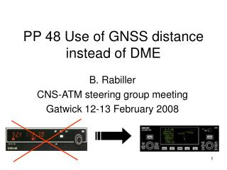 PP 48 Use of GNSS distance instead of DME