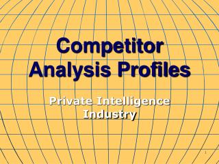 Competitor Analysis Profiles