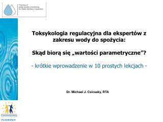 Dr. Michael J. Csicsaky, RTA