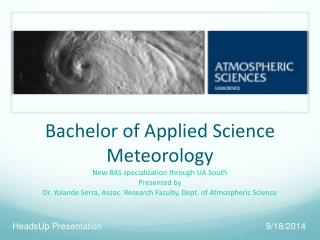 Bachelor of Applied Science Meteorology