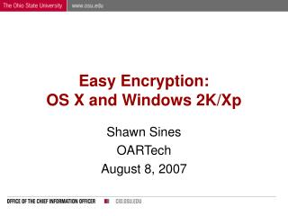 Easy Encryption: OS X and Windows 2K/Xp