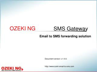 Email to SMS forwarding solution