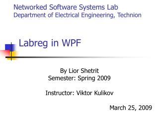 Labreg in WPF