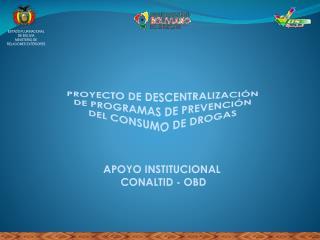 APOYO INSTITUCIONAL  CONALTID - OBD
