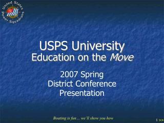 USPS University Education on the  Move