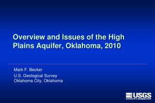 Overview and Issues of the High Plains Aquifer, Oklahoma, 2010