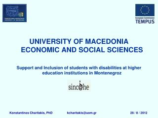 UNIVERSITY OF MACEDONIA ECONOMIC AND SOCIAL SCIENCES