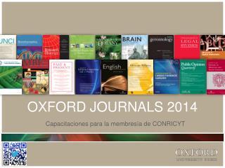 OXFORD JOURNALS 2014