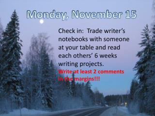 Monday, November 15