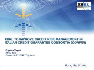 Eugenio  Virguti XBRL Italia  Partner of SOVEGA IT Systems